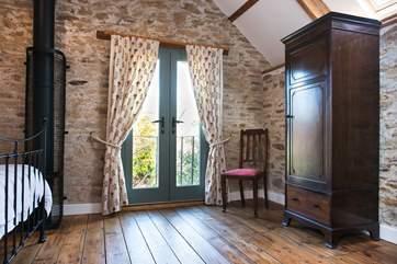 The French doors in Bedroom 1.