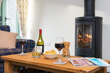 The wood-burner makes this an ideal retreat all year round.