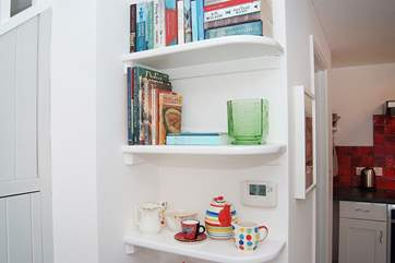 Bookcases full of books and pretty things...