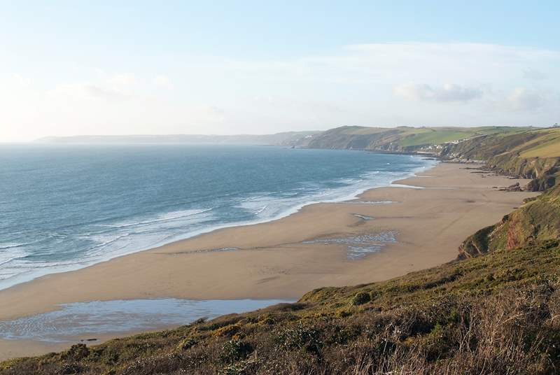 Long Sands at Whitsand Bay....just six miles away from The Studio.