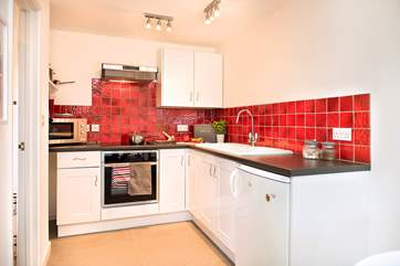 The kitchen area