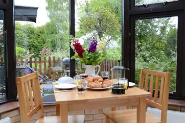 Enjoy breakfast in the conservatory, or just relax there and enjoy the sound of birds.