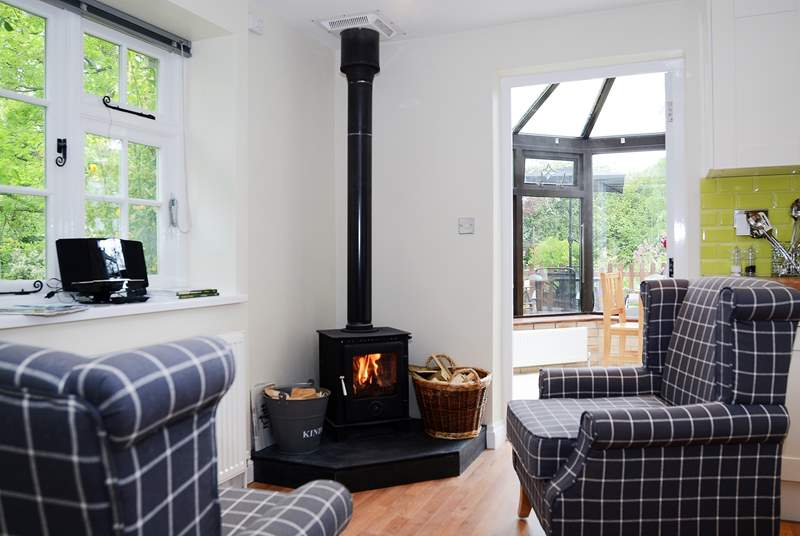 The wood-burner is great for snug evenings in.