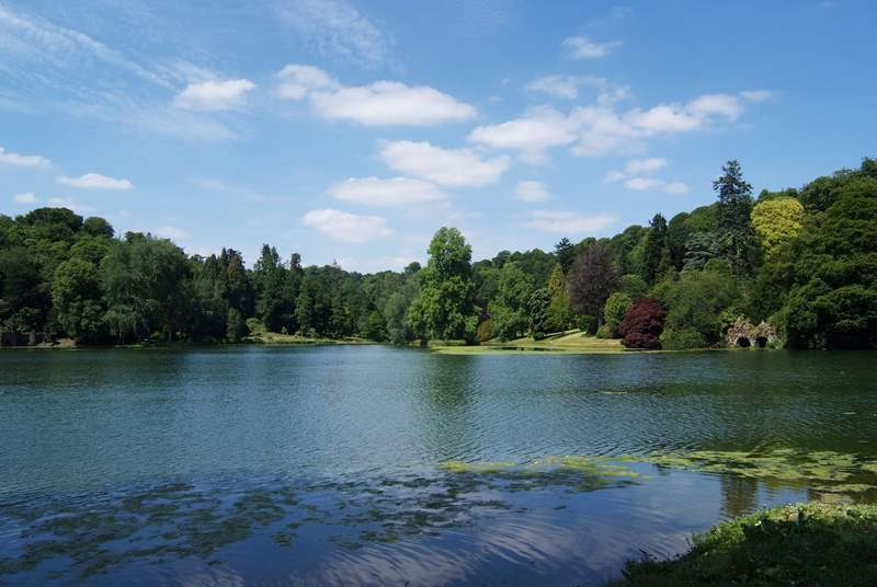 Stourhead, a fantastic National Trust estate at the source of the River Stour has magnificent rhododendrons and even has its own pub.