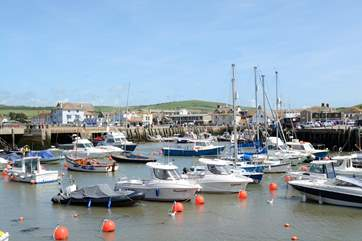 West Bay is s short drive away, a fishing port with some quirky shops.