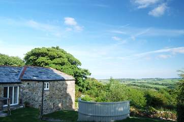 Endless views across Cornwall.