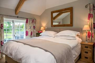 Bedroom Two is delightful and has 'zip and link' beds giving the flexibility to be either a double bed or twins.