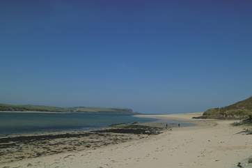 Just around the corner from Polzeath is Daymer Bay - a favourite with families.