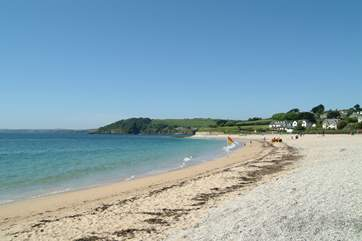 Gyllyngvase beach at Falmouth, five miles from Willow.