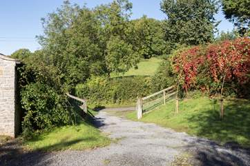 This is the entrance to the farm.