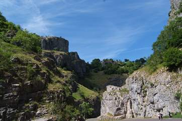 A very short drive takes you up into the Mendip Hills. This is Cheddar Gorge - quite breathtaking.