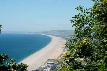 Chesil beach, an iconic landmark, starts at Portland and extends for 18 miles along the Jurassic Coast. The Fleet Lagoon is a unique habitat for wildlife.