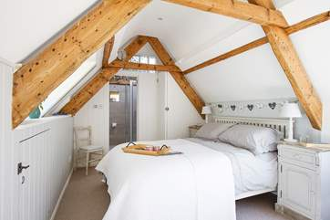 One of the three gorgeous bedrooms, this is Bedroom 3 on the top floor.