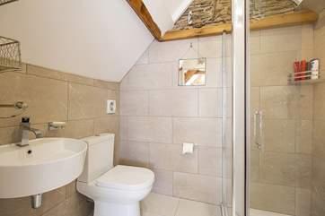 The en suite shower-room for Bedroom 3.
