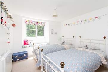Bedroom 2 is a delightful twin room, just right for children.