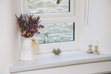 Lovely touches on a window sill.