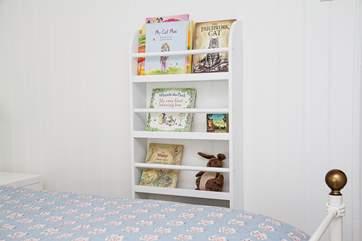 Children's books in Bedroom 2.
