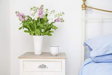 Gorgeous flowers in one of the bedrooms.