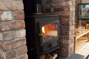 Book, wood-burner and a glass of wine! Perfection at any time of year.