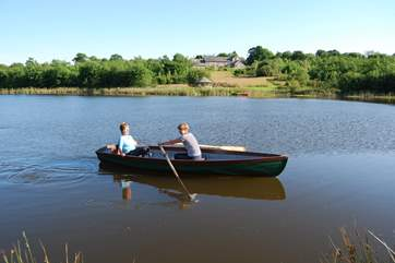 Guests are welcome to use the rowing boat and the summer-house.