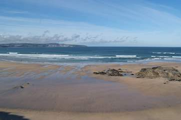 This beautiful beach at Gwithian stretches for miles and is worth a visit any time of the year.