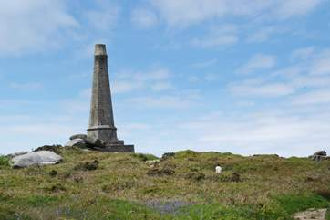 Carn Brea monument is worth the climb to take a closer look.