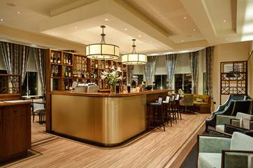 Pop up for a drink at the very stylish Art Deco inspired Glenbervie Bar.