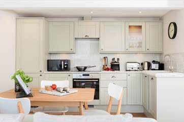 If you fancy cooking tonight the gorgeous kitchen is not only stylish but also very well-equipped.