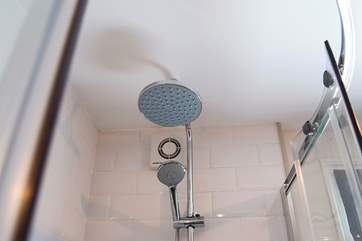 A nice big shower head for a really refreshing shower.