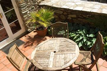 The patio outside Bedroom 3.
