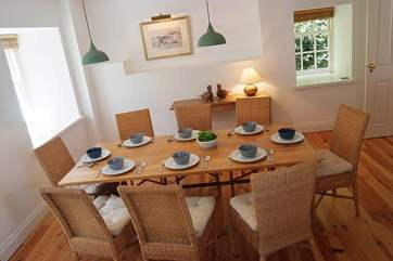 You'll want to linger over family meals here...