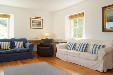 Comfortable sofas and wonderful views from the sitting-area.