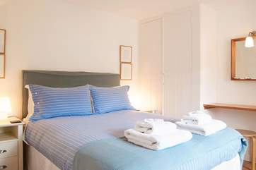 Bedroom 1 has a 5' double bed and sea views.