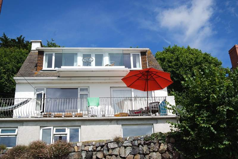 The Anchorage has a birds eye view over Coverack from its top floor position.