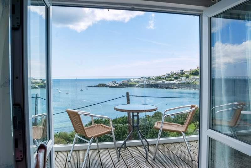 Step out on the balcony to enjoy those wonderful views from this rooftop apartment.