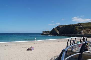 The lovely beach at Portreath is just down the road.