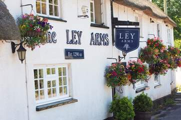 With its popular pub serving great food.