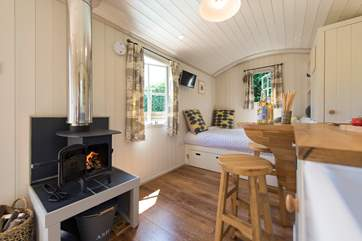 With a wood-burner for those chillier evenings but there is underfloor heating too!
