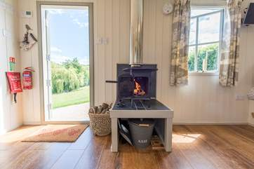 The wood-burner will bring a special feel to the hut during the cooler months.