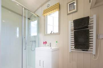 The en suite shower-room with heated towel rail too.