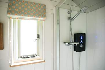 And a hot water shower too!