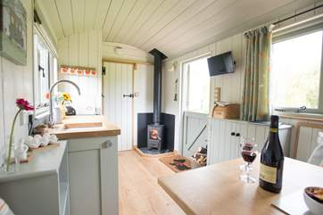 Beautifully fitted throughout and kept cosy and warm in the cooler months by the wood-burner.