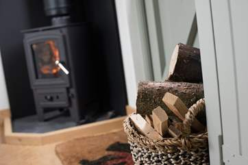 The wood-burner will keep things toasty on cooler days.