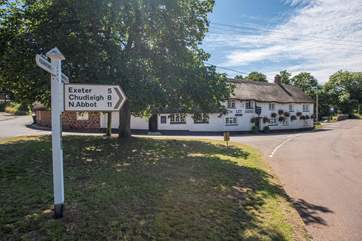 Just a short, five minute stroll will take you into the picturesque village of Kenn.
