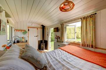 Enjoy the countryside views from the comfort of your bed!