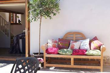 Choose a shady spot or lounge in the sun - this is the perfect spot