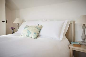 Luxurious soft furnishings and bedding add to the experience here.