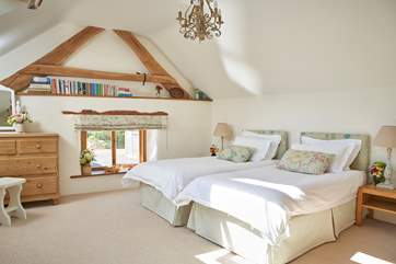 The option of twin beds adds flexibility to this wonderful home.