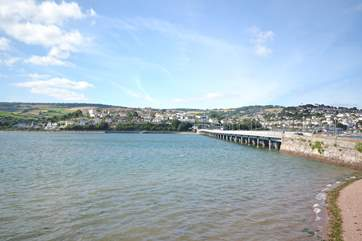 Looking across the estuary withTeignmouth in the distance.