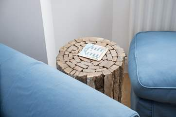 A quirky stool in the sitting-room.